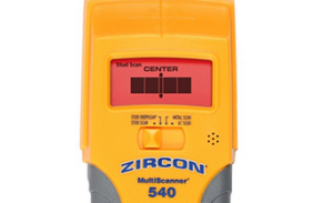 Zircon MS 540 stud finder from above